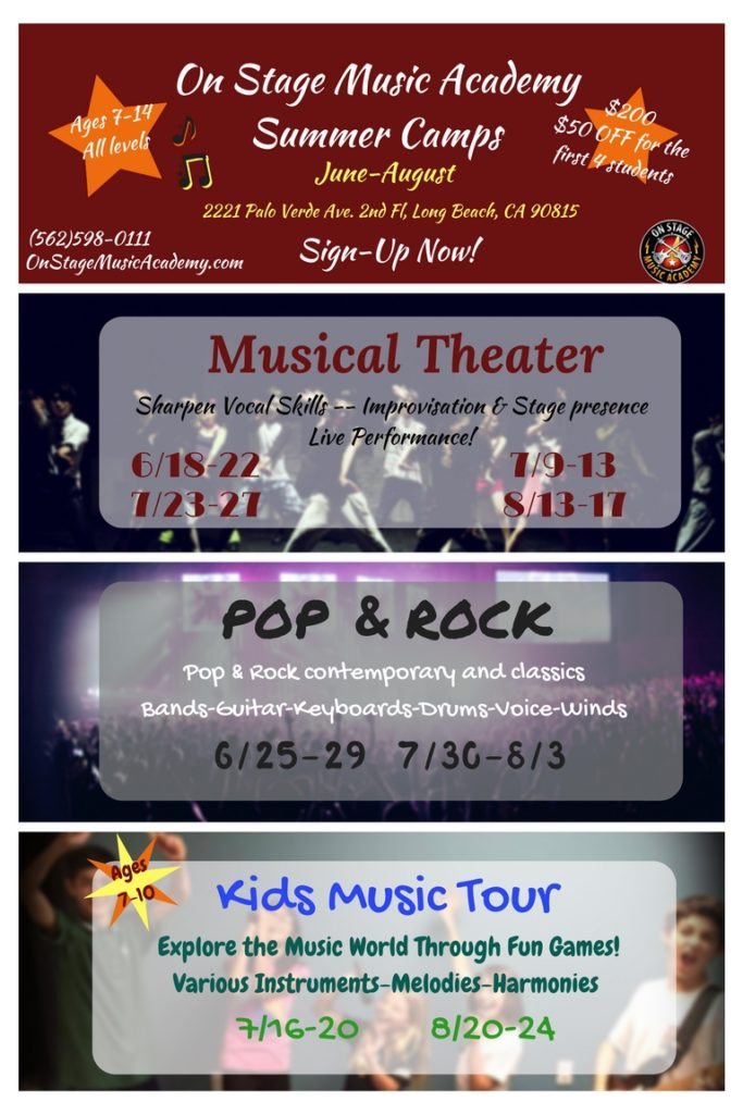 Pop & Rock, Musical Theatre Camp poster 8 x 12 (1)